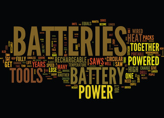 BATTERY SIZES AND TYPES Text Background Word Cloud Concept