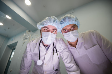 Experienced doctors during the operation