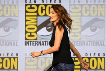 "Actor Michelle Gomez at  ""Dr. Who""  event at Comic Con Internation in San Diego"