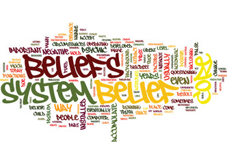 YOUR CORE BELIEF Text Background Word Cloud Concept
