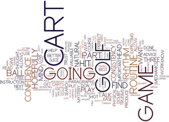 THE JOY OF A GOLF CART Text Background Word Cloud Concept