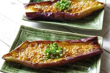 なすの味噌田楽・家庭料理