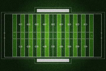 Realistic Denim texture of American football field element vector illustration design concept
