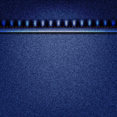 Realistic blue denim texture pattern graphic vector design