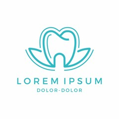 lotus dental health vector illustration