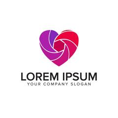 media love logo. photography logo design concept template