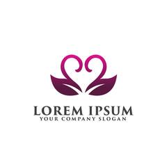 wedding romantic logo design concept template