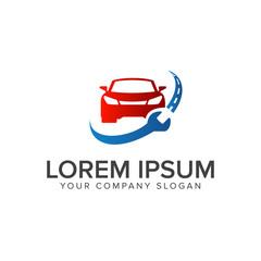 automotive repair logo design concept template