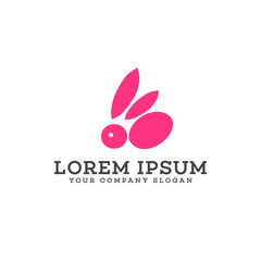 Rabbit logo. Animals and Pets logo design concept template