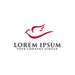 dove logo design concept template