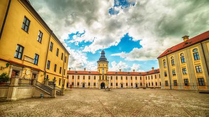 Belarus: Niasvish, Nesvizh, Nesvyziaus, Nieswiezu residential castle in the summer