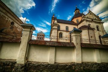 Belarus: The Corpus Christi Catholic Church of Niasvish, Nesvizh, Nesvyzius, Nieswiezu in the summer