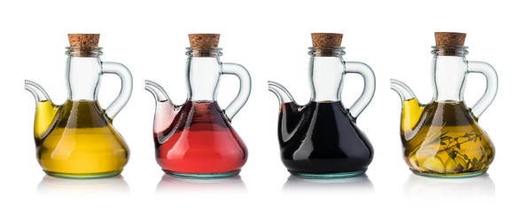 Bottle of olive oil and vinegar