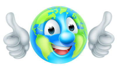 Earth Day Cartoon Character