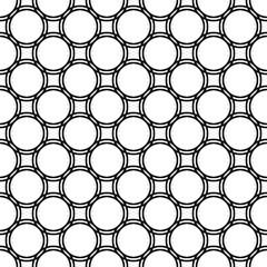 Seamless abstract monochrome circle grid pattern - simple halftone vector background graphic