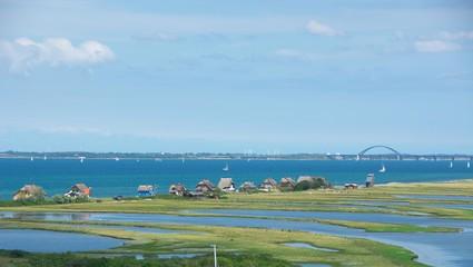 Heiligenhafen Graswarder mit Ferienhäuser an der Ostsee