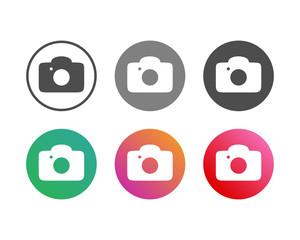 Simple Camera Icon Set