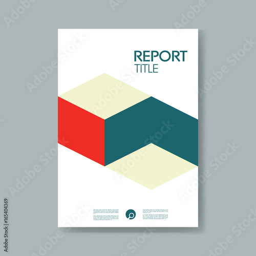 Material Book Cover Template : Quot annual business report cover template with modern