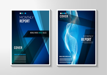 A4 Brochure Cover Mininal Design with Geometric shapes, colorful gradients and space for text
