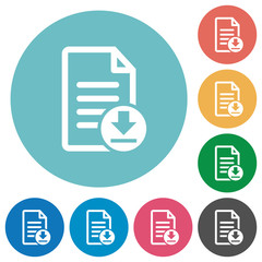 Download document flat round icons