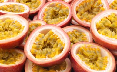 Fresh passion fruit background