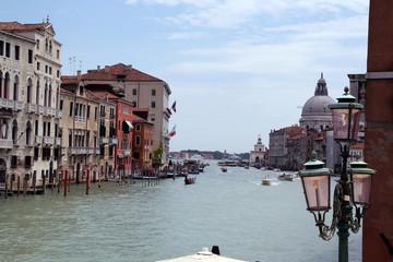 Grand Canal and the Basilica of Santa Maria della Salute, Venice, Italy