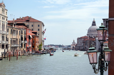 Grand Canal and the Basilica of Santa Maria della Salute, Venice, Italy