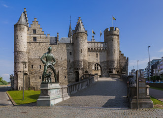 Canvas Prints Antwerp Steen castle in Antwerp Belgium