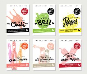 Chili Pepper Posters Set