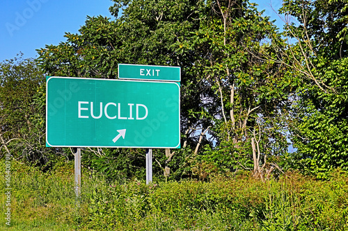 US Highway Exit Sign For Euclid