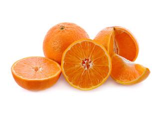 sweet ripe orange Isolated on white background