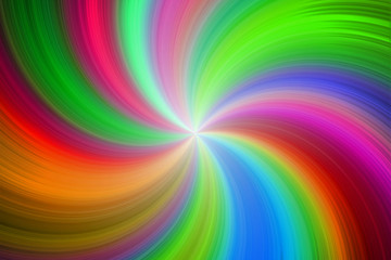 Rainbow playful colorful happy swirl circle radial lines image