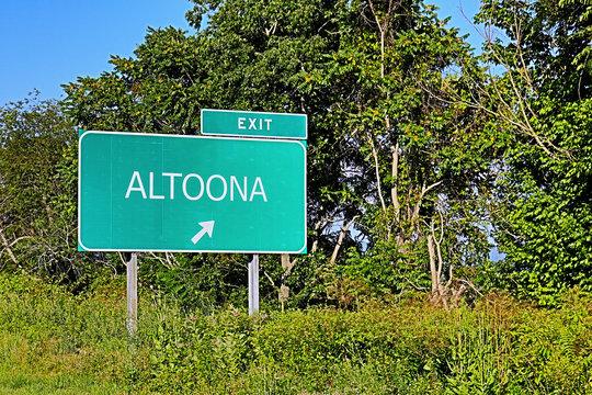 US Highway Exit Sign for Altoona