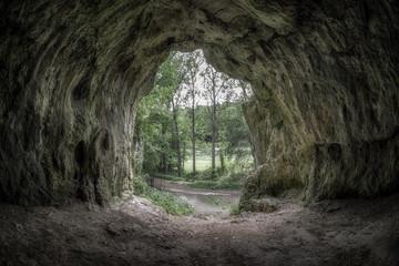 Cave called Devil's furnace, Slovakia