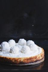 gluten free coconut bounty cheesecake