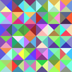 Abstract pyramid pattern background - mosaic vector illustration from triangles in multicolored tones