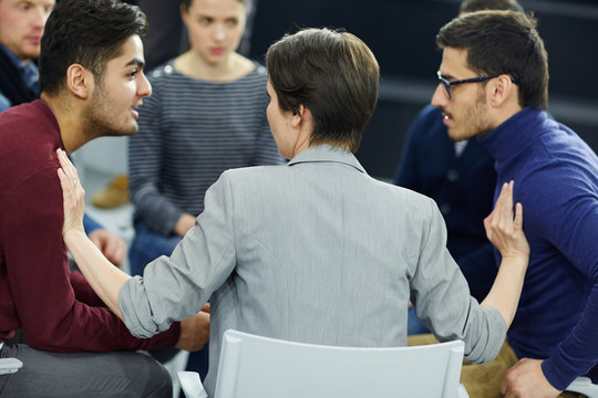 Psychologist trying to fade conflict between two men