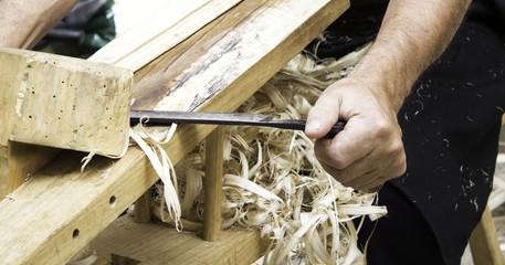 Man working wicker