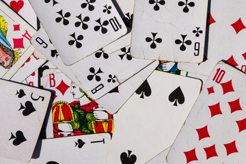 Background of the old playing cards