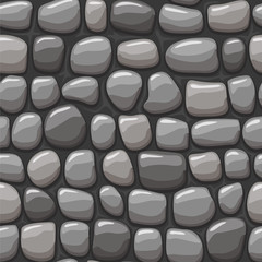 view from above cartoon gray stone texture, vector seamless background