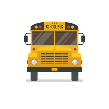 School bus front view.