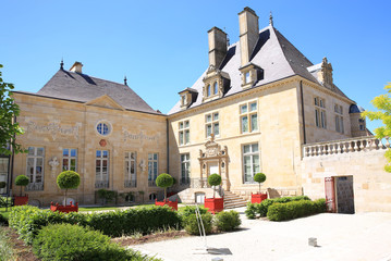 Historic mansion in Langres, former town hall, today museum, Departement Haute-Marne, France