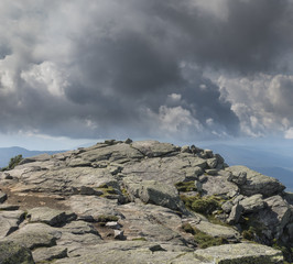 Whiteface Peak Summit and Clouds