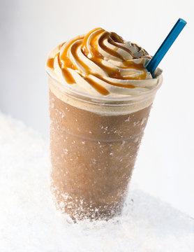 Iced coffee mocha frappuccino