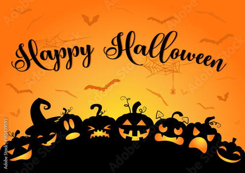 happy halloween k rbisse mit flederm usen stockfotos und lizenzfreie vektoren auf. Black Bedroom Furniture Sets. Home Design Ideas