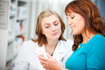Pharmacy: Customer Asking Questions About Medicine