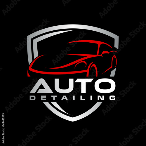 Auto Detailing Car Logo Stock Image And Royalty Free Vector Files