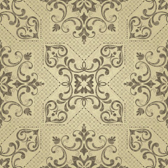Texture of ceramic tiles in oriental style
