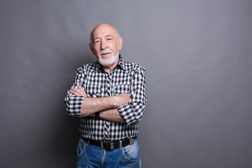 Handsome confident senior man portrait