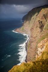 Portugal, Madeira Island, Ponta do Pargo view point cliff line